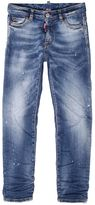 DSQUARED2 Slim Wrinkled Super Stretch Denim Jeans