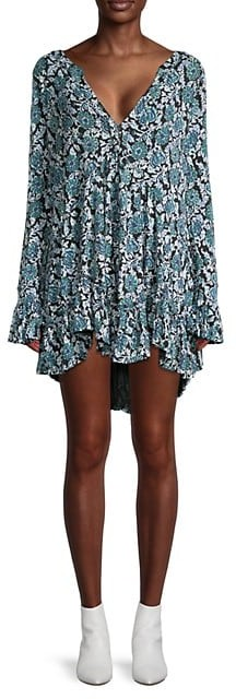 Thumbnail for your product : Free People Floral-Print Mini Dress