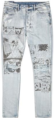 Ksubi Chitch printed distressed slim-leg jeans