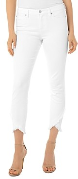 Liverpool Los Angeles Abby Ripped Hem Jeans in Bright White