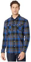 Levi's Kine Herringbone Flannel Shirt (Caviar) Men's Clothing