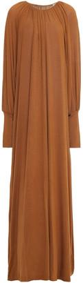 Totême Anville Gathered Stretch-jersey Maxi Dress