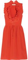 Vanessa Bruno Gimmy Ruffled Silk Crepe De Chine Dress - FR42