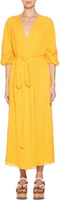 Gabriela Hearst Demeter Cape Wrap Dress