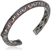 """MCL by Matthew Campbell Laurenza Viking"""" Pave with Red Enamel Line Cuff Bracelet"""