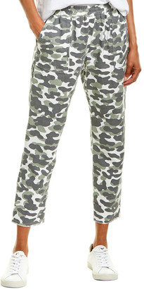 Monrow Animal Camo Fray Patch Pocket Pant