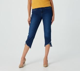 NYDJ Capri Jeans with Crisscross Hem - Cooper