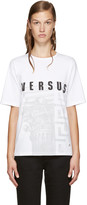 Versus White Logo Print T-Shirt