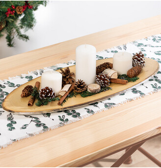 Honey-Can-Do Oval Rustic Tray