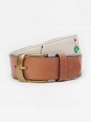 J.Mclaughlin Ashton Embroidered Belt in Golf