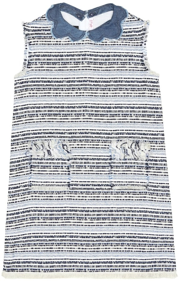 Il Gufo Cotton-blend boucle dress