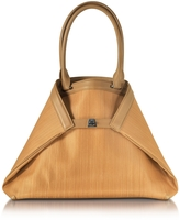 Akris Ai Small Camel Horsehair Tote Bag