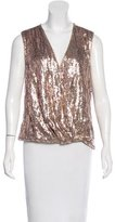 Halston Embellished Sleeveless Blouse w/ Tags