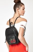 La Hearts Floral Embroidered Backpack