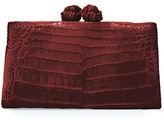 Nancy Gonzalez Crocodile Knot-Top Clutch Bag