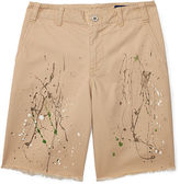 Ralph Lauren 8-20 Distressed Cotton Twill Short