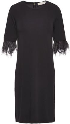 MICHAEL Michael Kors Feather-trimmed Ponte Mini Dress