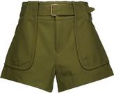 Derek Lam 10 Crosby Belted cotton-canvas shorts