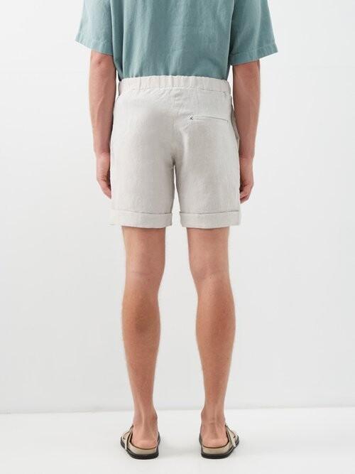 Thumbnail for your product : MARANÉ Slubbed Linen-poplin Shorts - Beige