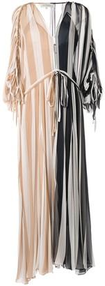 Lee Mathews Oasis striped crinkle dress