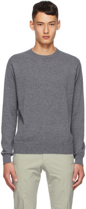 Dunhill Grey Cashmere Crewneck Sweater