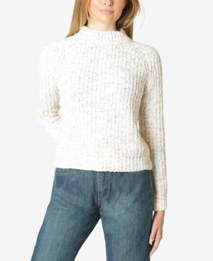 Ultra Flirt Juniors' Marled Chenille Mock-Neck Sweater