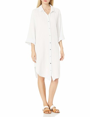 Seafolly Women's Textured Cotton Oversized Shirt Dress Cover Up
