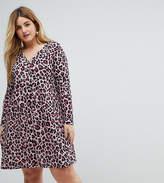 Pink Clove Button Through Tea Dress