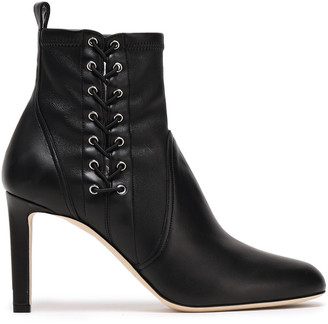 Jimmy Choo Lace-up Stretch-leather Ankle Boots