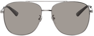 Gucci Gunmetal Aviator Sunglasses