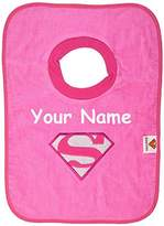 Bumkins Personalized Supergirl Pullover Baby Bib