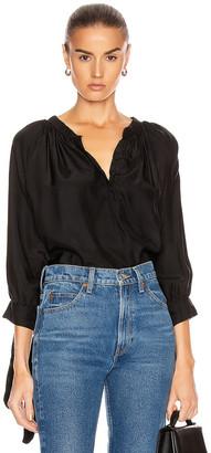 Natalie Martin Renata Shirt in Black Silk | FWRD