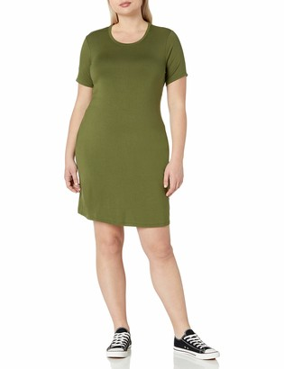 Daily Ritual Women's Plus Size Jersey Short-Sleeve Scoop Neck T-Shirt Dress 1X