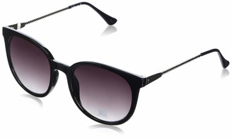 Laundry by Design Women's Ld254 Oxslv Non-Polarized Iridium Round Sunglasses