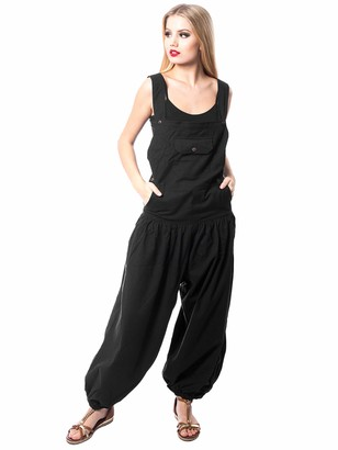 Innocent Lifestyle Soho Dungarees Women's Overalls - Black - UK 12