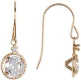 Candela 10K Yellow Gold CZ Drop Earrings