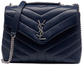 Saint Laurent Loulou Small Matelasse Calfskin Flap Bag