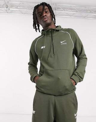 Nike DNA Pack half-zip hoodie in khaki