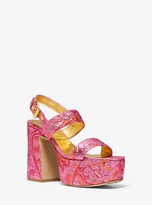 Michael Kors Blaire Brocade Platform Sandal