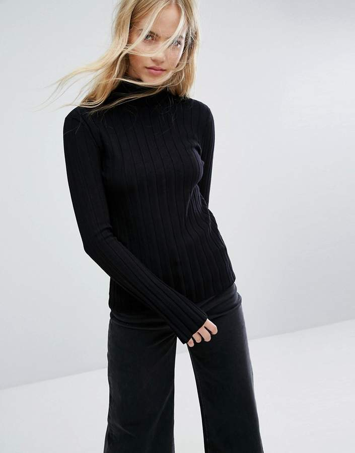 Weekday Thick Rib Polo Neck Jumper