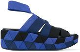 Salvatore Ferragamo Origami weave wedge sandals
