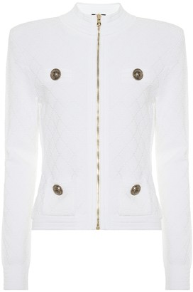 Balmain Quilted knit jacket