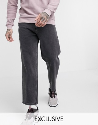 Reclaimed Vintage classic fit jeans in washed black