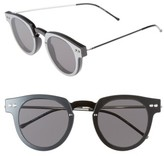 Spitfire Women's Sharper Edge 52Mm Round Sunglasses - Black/ Black/ Silver Mirror