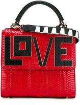 Les Petits Joueurs 'Love' shoulder bag - women - Leather/Watersnake Skin/plastic - One Size