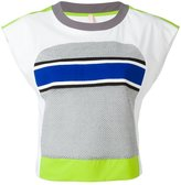 NO KA 'OI No Ka' Oi - neon detail cropped T-shirt - women - Polyamide/Polyester/Spandex/Elastane/Viscose - L
