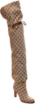 Gucci Gg Canvas Over-The-Knee Boot