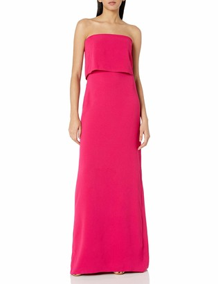 Halston Women's Strapless Tiered Top Slim Gown