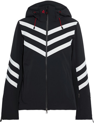 Perfect Moment Chevron Stripes Hooded Padded Ski Jacket