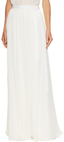 Jenny Packham Silk Gathered Tie Belt Maxi Skirt